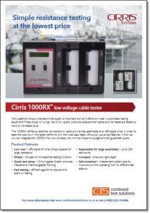 Cirris 1000RX brochure