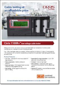 Cirris 1100R+ tester brochure