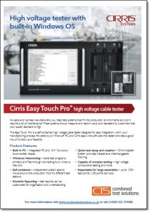 Cirris Easy Touch Pro brochure