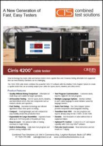 Cirris 4200 cable tester datasheet