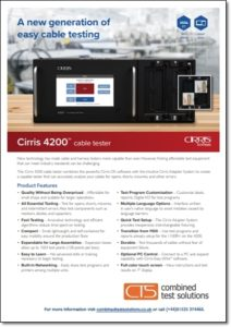 Cirris 4200 brochure download